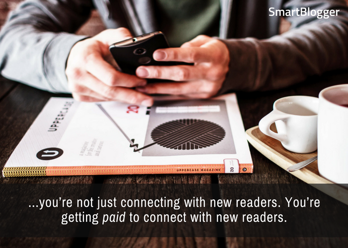 Get paid to connect with new readers.