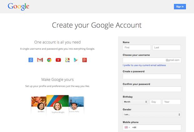 google-sign-up