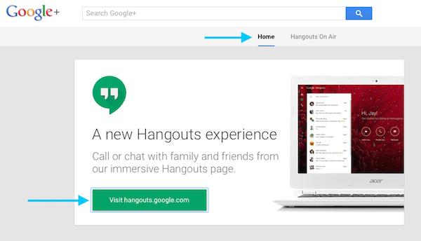 Visit Google Hangouts