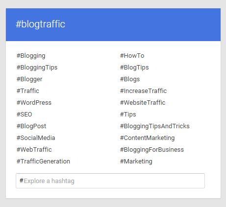 hashtags on google plus