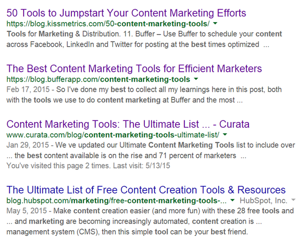 google content marketing