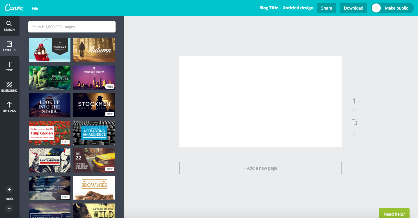 Canva Dashboard