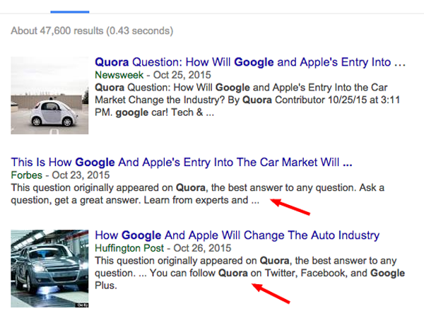 quora get noticed by major publications