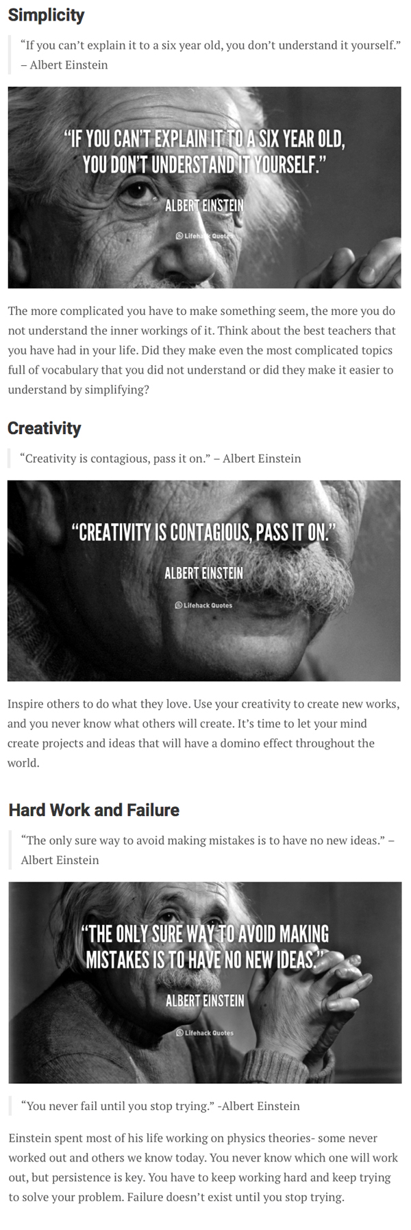 Lifehacker - Albert Einstein