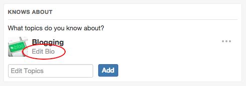 quora custom topic bio