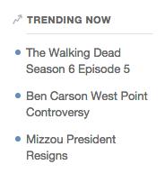 Quora target trending topics