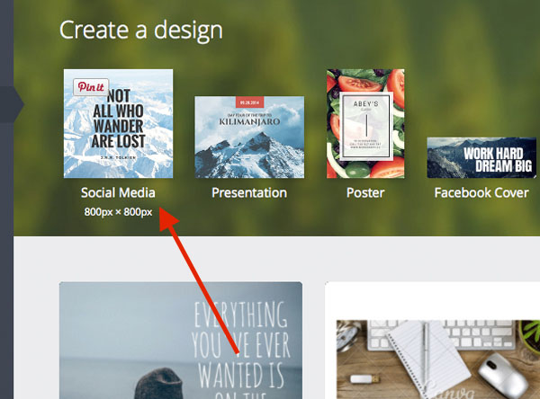 Canva Social Media Design Types