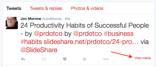 Slide Share - Native Twitter embed 001