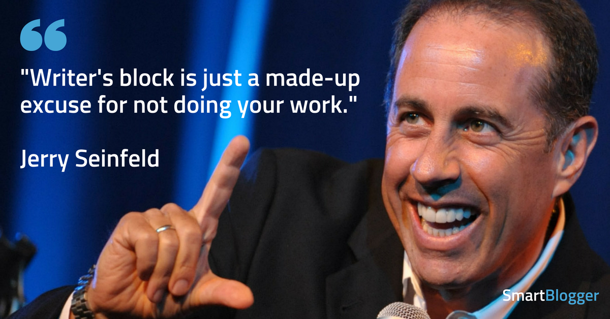 Jerry Seinfeld on writer's block