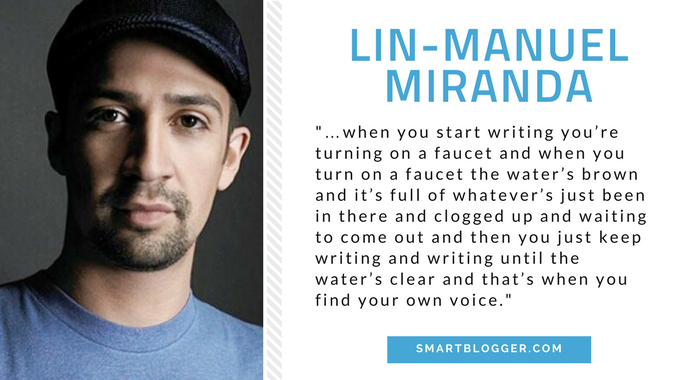 Lin Manuel Miranda - Writing Tips