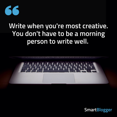 write when you're most creative