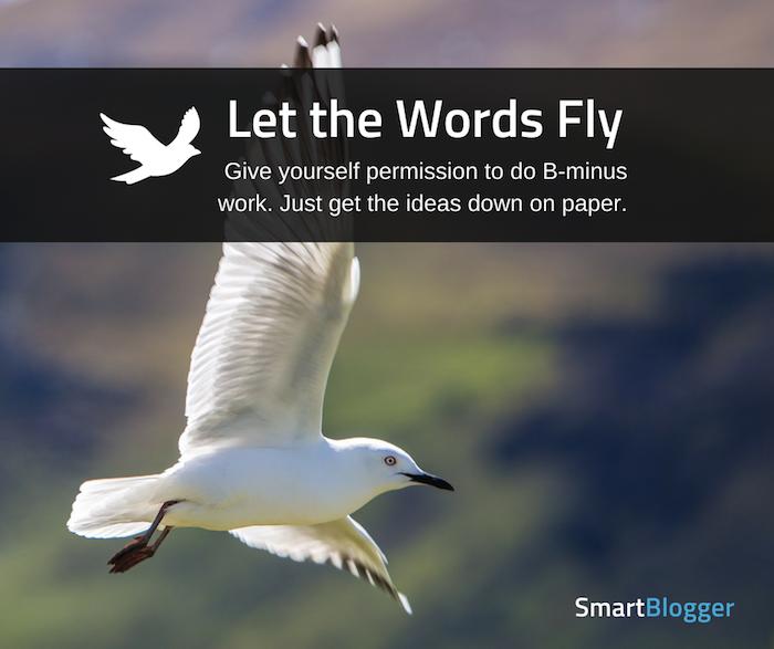 deja volar las palabras