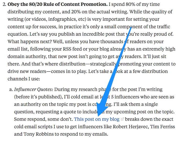 Use backlinks from Quora to promote your content.