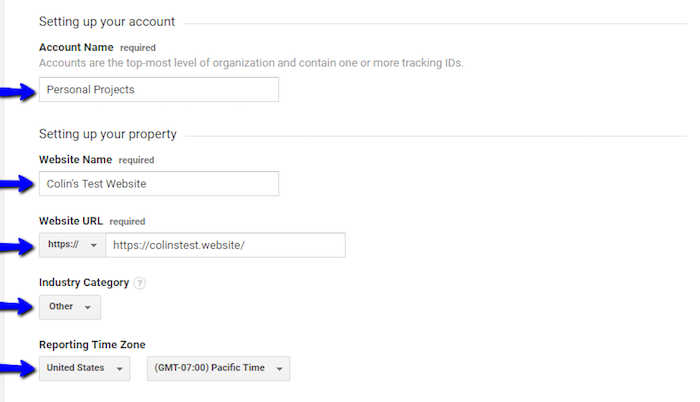 Setting Up Your Google Analytics