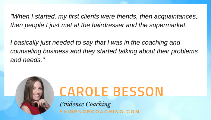 how to get your first coaching clients