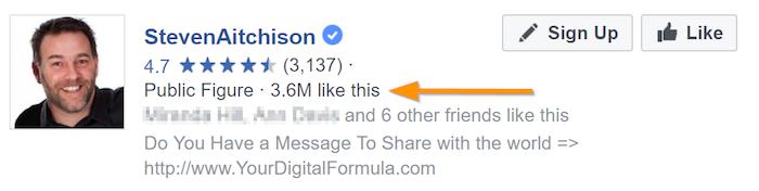 Steven Aitchison's Facebook Likes