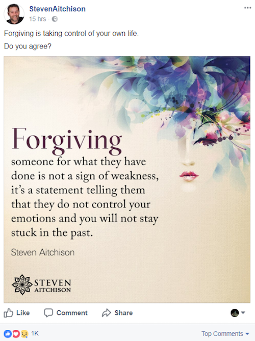 Forgiving - Aha Quote