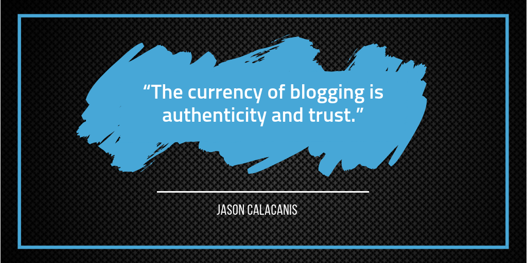 Currency of Blogging - Jason Calacanis