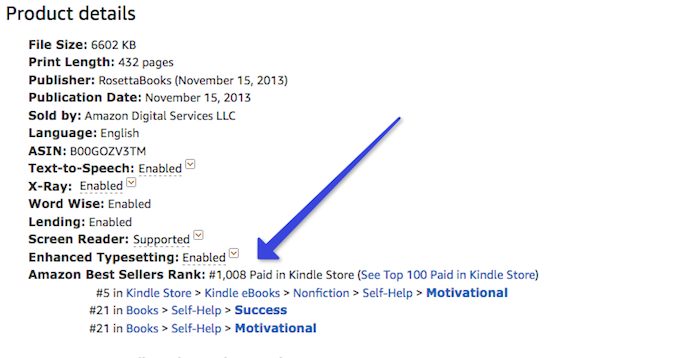 Find a book's best seller rank on Amazon