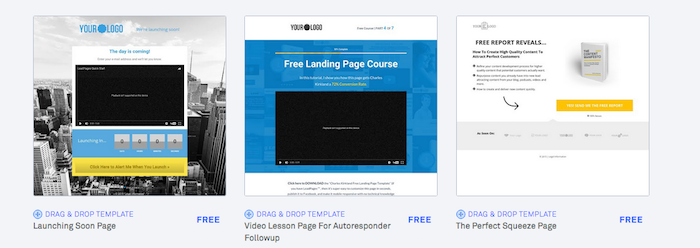 Leadpages - Drag and drop builder
