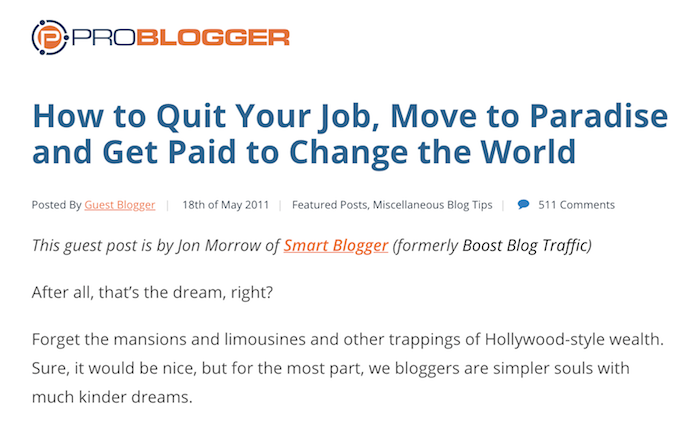 How to Quit Your Job - Problogger