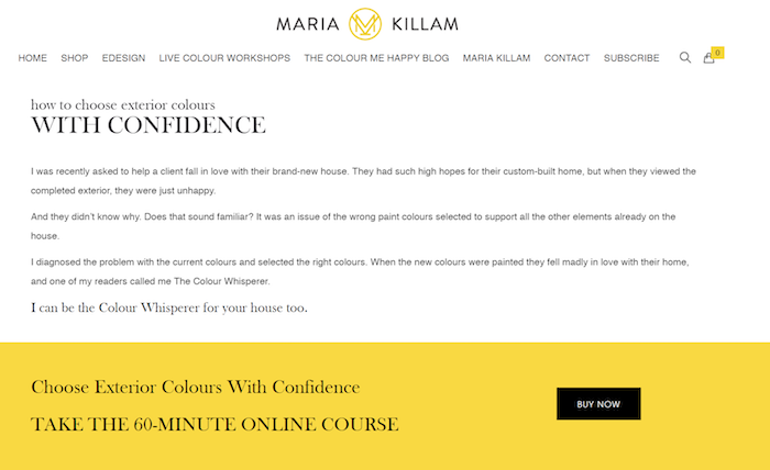Maria Killam - Courses and Workshops