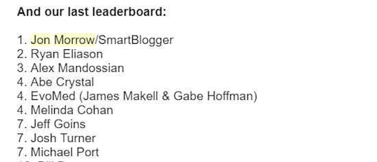 #1 affiliate Leaderboard