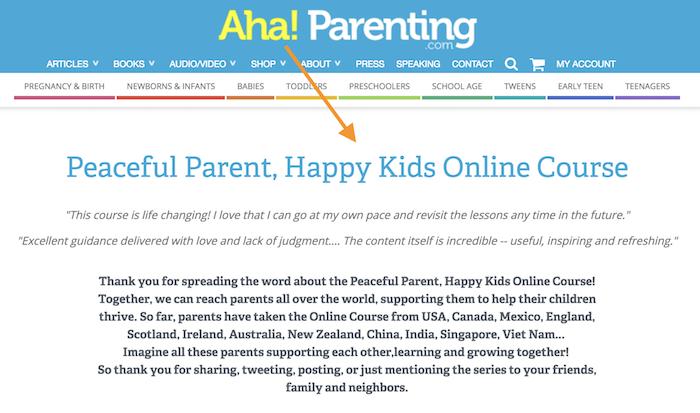 Aha! Parenting affiliate