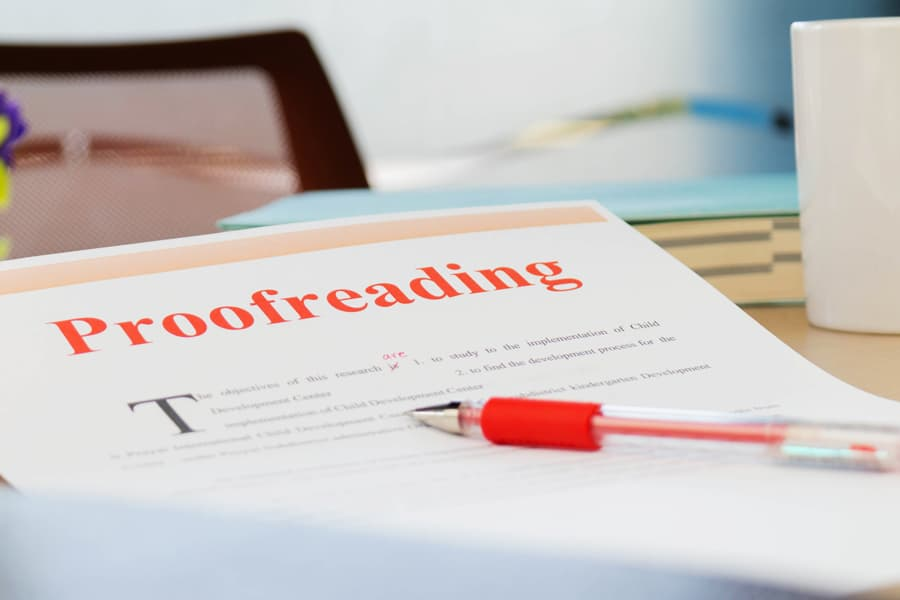proofreading editing tips