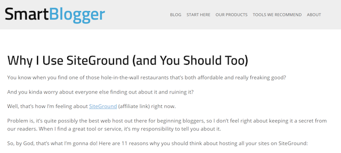 Why I Use Siteground - Smartblogger Review