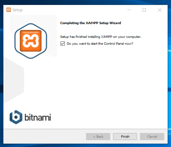 XAMPP confirmation screen