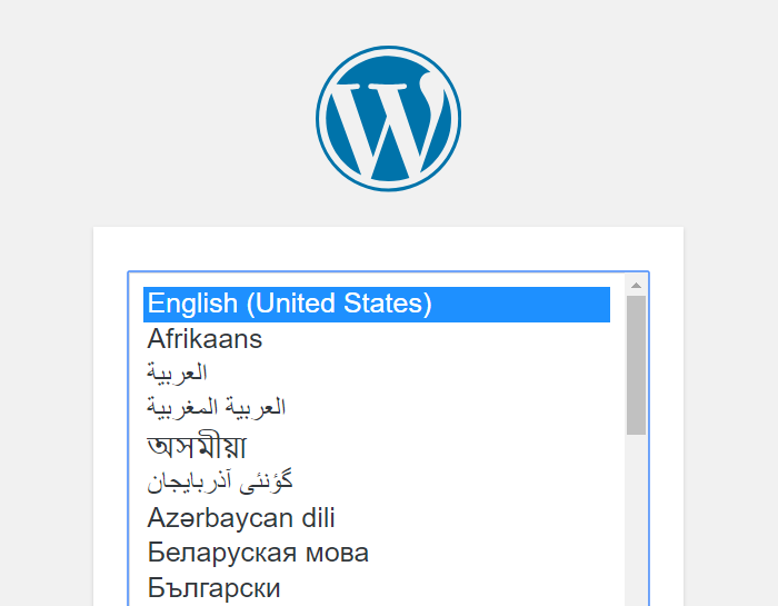 Choose your WordPress language
