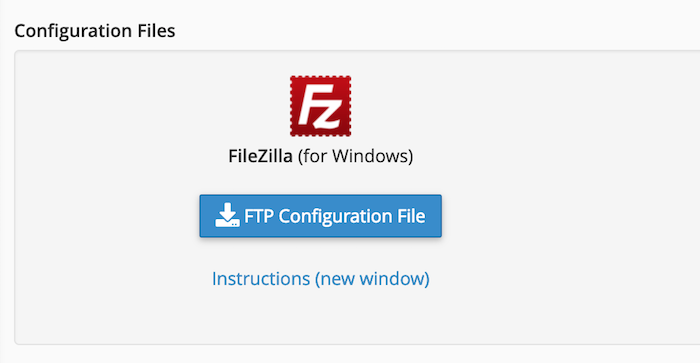 Filezilla FTP configuration