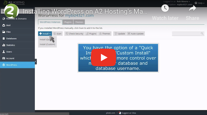 A2Hosting WordPress Tutorial - 2