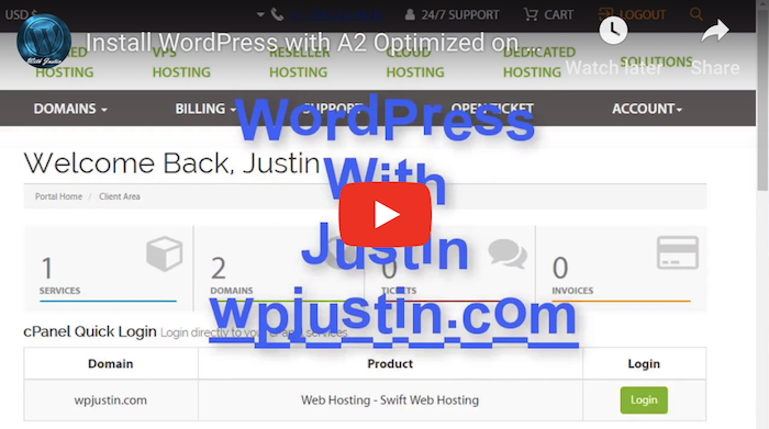 A2Hosting WordPress Tutorial