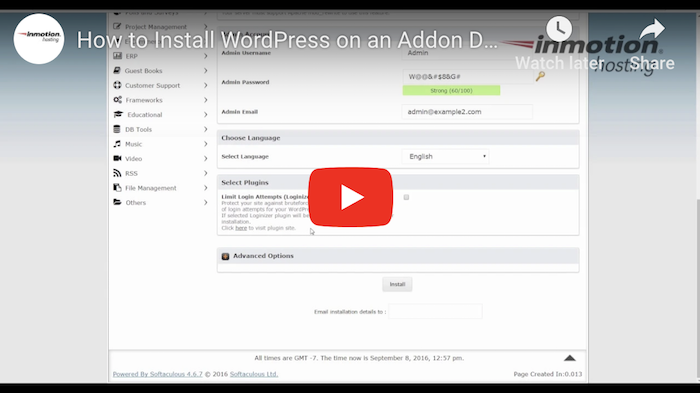 InMotion WordPress Tutorial