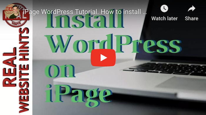 iPage WordPress Tutorial