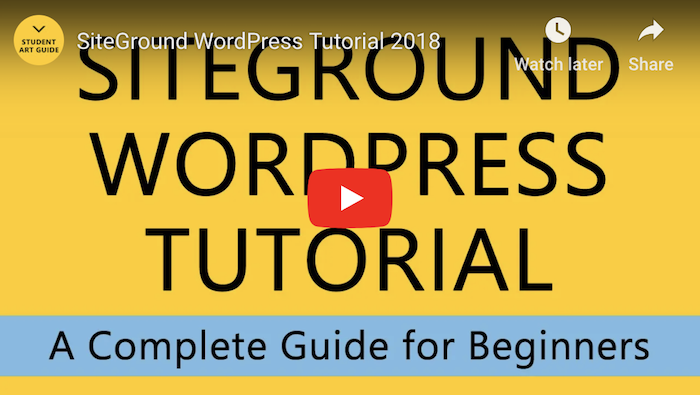 Siteground WordPress Tutorial