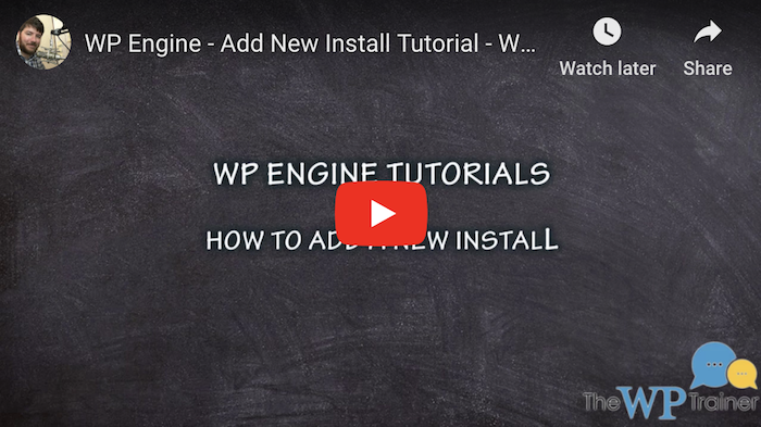WP Engine WordPress Tutorial