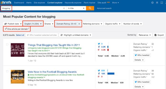 niche website content explorer 2