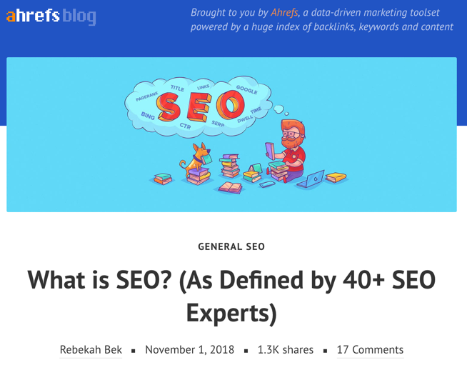 what is seo ahrefs blog