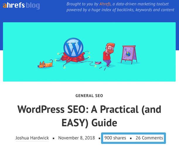 wordpress seo blog post