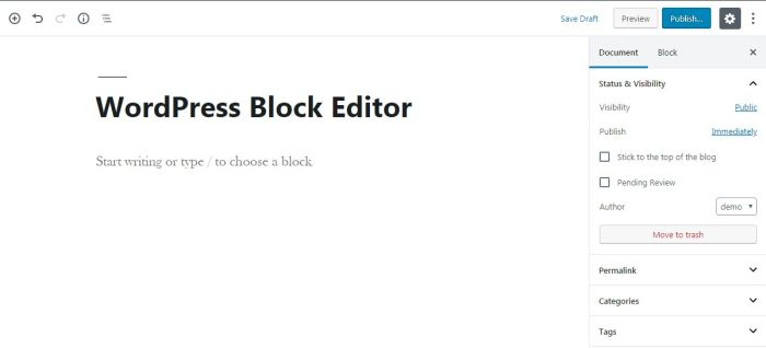 002 wordpress block editor gutenberg editor