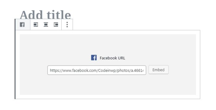 031 wordpress block editor embeds facebook example 1