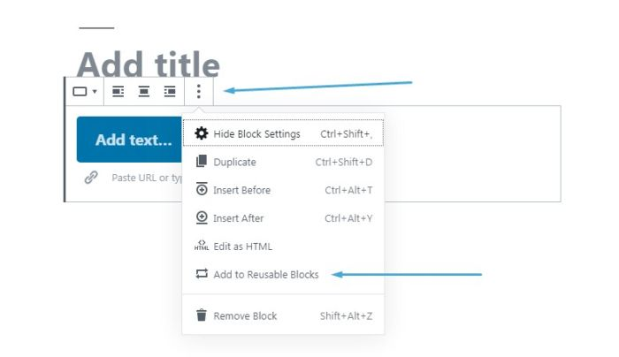 039 wordpress block editor reusable blocks 1