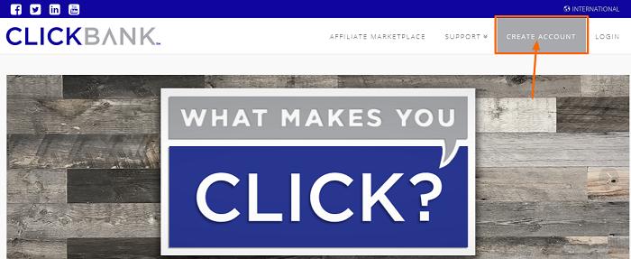 ClickBank menu
