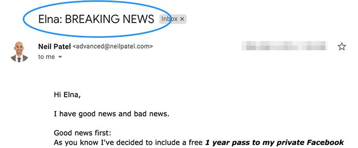 personalizzazione dei tassi di apertura dell'email marketing