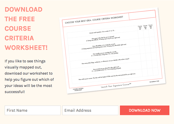 email marketing worksheet