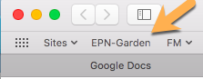 EPN Garden toolbar