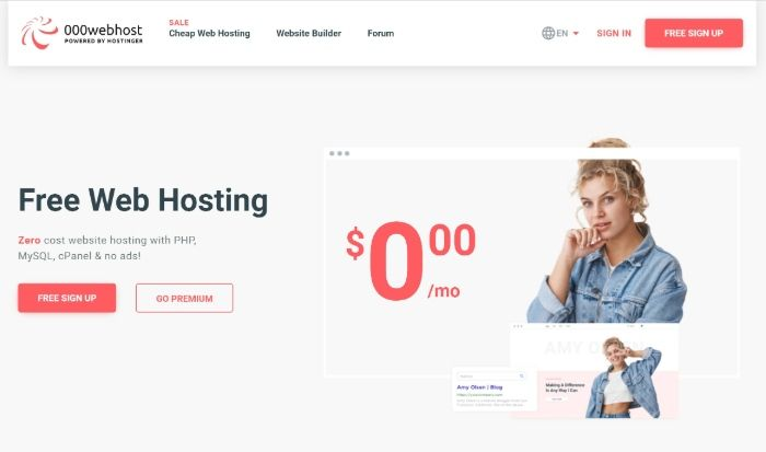 Free WordPress Hosting - 000webhost